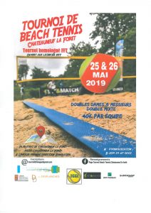 Tournoi de beach tennis