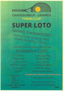Super loto du Tennis club Chateauneuf/Linards